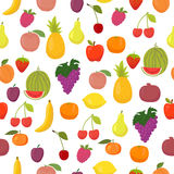 Vector seamless pattern with fruits. Healthy food Royalty Free Stock Images