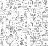 Vector seamless pattern of furrier`s tools Royalty Free Stock Images