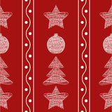 Vector seamless pattern garland of Christmas toys Royalty Free Stock Photos