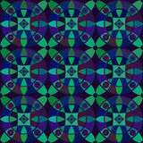 Vector seamless pattern with geometric ornament. Color decorative mosaic illustration for print, web Royalty Free Stock Photography
