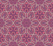 Ethnic ornamental seamless pattern for fabric. Vector seamless pattern, geometric repeating texture. Tribal ethnic lace tiled ornament. oriental floral surface Stock Photos