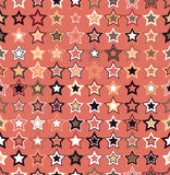 Vector seamless pattern. Geometric seamless pattern. The stars of different sizes and different colors. Stock Photography