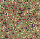 Vector seamless pattern. Geometric seamless pattern. The stars of different sizes and different colors. Royalty Free Stock Photos