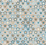 Vector seamless pattern. Geometric seamless pattern. The stars of different sizes and different colors. Stock Photo