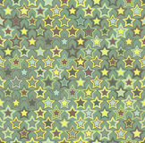 Vector seamless pattern. Geometric seamless pattern. The stars of different sizes and different colors. Royalty Free Stock Image