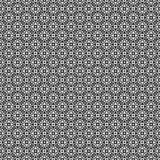 Vector seamless pattern. Geometric texture. Black-and-white background. Monochrome squares and cross shapes design. vector illustration