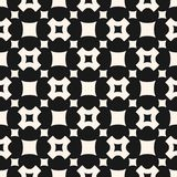 Vector seamless pattern, geometric texture, squares, crosses Royalty Free Stock Photo