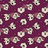 Vector seamless pattern. Ghost characters. Halloween illustration. Royalty Free Stock Photos