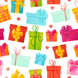 Vector seamless pattern gift background Royalty Free Stock Image