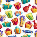 Gifts and presents boxes seamless pattern royalty free illustration