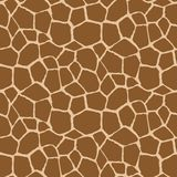 Vector seamless pattern with giraffe, skin. Endless modern background. royalty free illustration