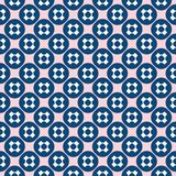 Vector seamless pattern. Funky pink, navy blue geometric texture. Stock Photography