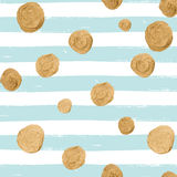 Vector seamless pattern with gold confetti. Stock Images