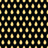 Vector seamless pattern with gold drops Stock Photos