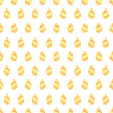 Vector seamless pattern with gold drops Stock Images