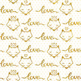 Vector seamless pattern with gold glitter Stock Image