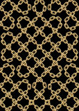 Vector seamless pattern of golden chains Stock Photos