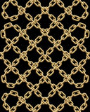 Vector seamless pattern of golden chains Stock Photo