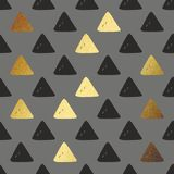 Vector seamless pattern with golden triangles. Decorative background for printing Stock Images