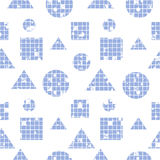 Vector seamless pattern, graphic illustration Royalty Free Stock Photos