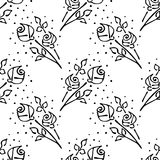 Vector seamless pattern, graphic illustration Royalty Free Stock Photo