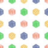 Vector seamless pattern, graphic illustration royalty free illustration