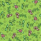 Vector seamless pattern with grass Stock Photo