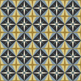 Vector seamless pattern. Gray, olive, ocher, mustard geometric background. Stock Image