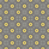 Vector seamless pattern gray and yellow Stock Images