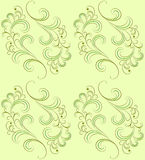 Vector seamless pattern on green. Royalty Free Stock Images