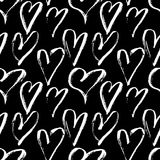 Vector seamless pattern with grunge hearts. Happy Valentines Day background. Vector illustration. Vector seamless pattern with grunge hearts. Happy Valentines Royalty Free Stock Images