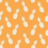 Vector seamless pattern with had drawn pineapple. V Royalty Free Stock Photo