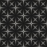 Vector seamless pattern, halftone dotted lines, crosses, squares Stock Images