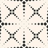 Vector seamless pattern with halftone dotted lines, crosses. Royalty Free Stock Image