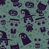Vector seamless pattern for Halloween. Royalty Free Stock Photo