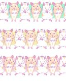 Vector seamless pattern with geometric hamsters on a color bars vector illustration