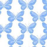 Hand drawn butterflies pattern Stock Photos