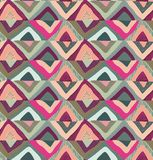 Vector seamless pattern with hand drawn colorful triangle abstract elements. vector illustration