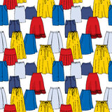 Vector seamless pattern of hand drawn fashion Stock Image