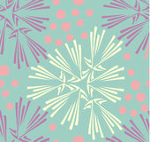 Vector seamless pattern. Hand drawn floral texture Royalty Free Stock Images