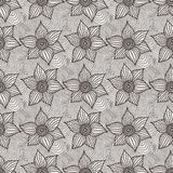 Vector seamless pattern of hand-drawn flowers Royalty Free Stock Photos