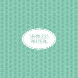 Vector seamless pattern of hand drawn flowers. Royalty Free Stock Photography