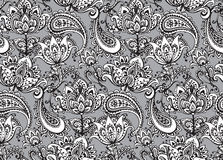 Vector seamless pattern with hand drawn Henna  design elements Royalty Free Stock Photography