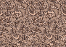Vector seamless pattern with hand drawn Henna  design elements Stock Photography