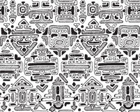 Vector seamless pattern with hand drawn ornament maya Stock Photos