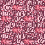 Vector seamless pattern for Happy Valentine`s Day Royalty Free Stock Images