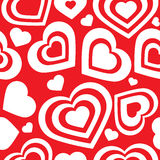 Vector seamless pattern of heart Stock Photography
