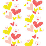 Vector seamless pattern of heart Royalty Free Stock Photos