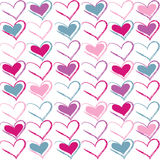 Vector seamless pattern of heart Royalty Free Stock Photo