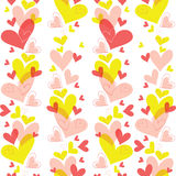 Vector seamless pattern of heart Royalty Free Stock Photography